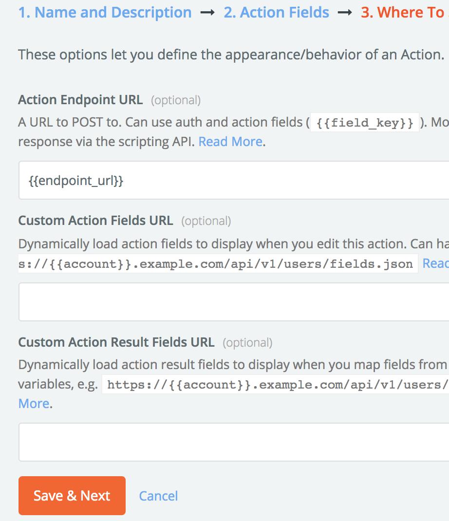 Enpoint URL configuration